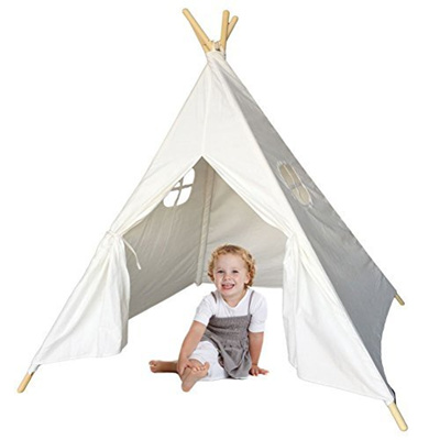Qoo10 - MakBB Indoor White Teepee Tent Play Playhouse Tents Canvas for Kids wi...  Furniture u0026 Deco  sc 1 st  Qoo10 & Qoo10 - MakBB Indoor White Teepee Tent Play Playhouse Tents Canvas ...