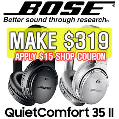 0517d69d0b3 Qoo10 - [MAKE $319] [SUPER SALE] Bose QuietComfort 35 Wireless Headphones  II : Mobile Devices
