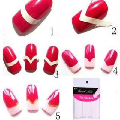 Makeup Beauty Fashion Women S 3 Diffe Nail Stickers Designs French Smile Easy Diy Nails