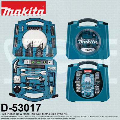 makitaMakita D-53017 103 Pieces Hand Tools and Hand Drill Bits Combination  Kit Accessories Toolbox Set