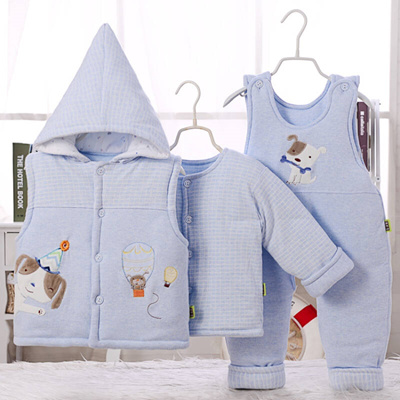 Qoo10 Male Baby Winter Cotton Coat Three Sets 0 1 Year Old Baby