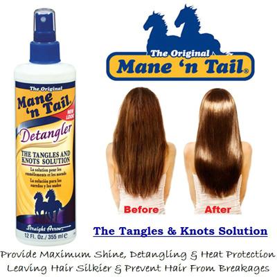 Mane N Tail Detangler 355ml Eliminate Tangles Provide Maximum Shine Ready