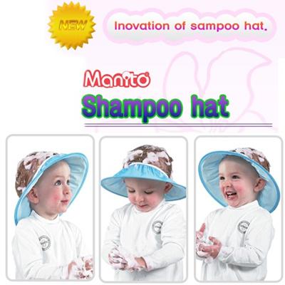 b6ddd1e72 [Manito] Baby Child Kid Shampoo Fruit Bath Shower Cap Hat Wash Hair eye  Shield Free Size! SAFE