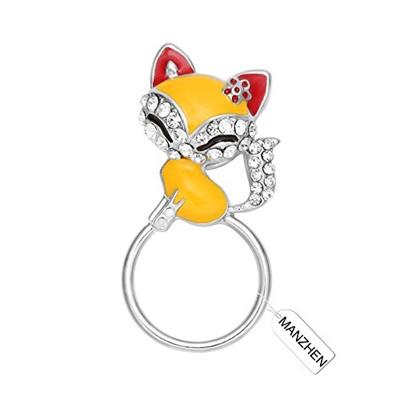 f2919d534 Qoo10 - MANZHEN Lovely Fox Animal Brooch Crystal Fox Magnetic Eyeglass  Holder ... : Watch & Jewelry