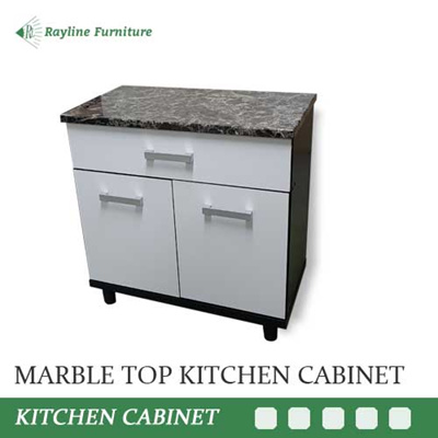 Qoo10 Marble Top 2 Door Kitchen Cabinet With Drawer Solid