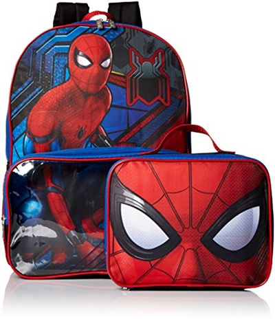 8d9815c097a3 Marvel Boys Spiderman Backpack with Lunch Window Pocket