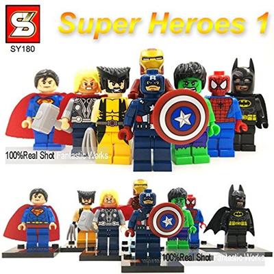 Marvel Avenger DC Toys Superheros Action Figure Batman Ironman Hulk Superman