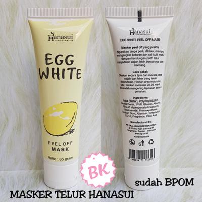 Mask Telur / Egg Peel Off Mask BPOM ORIGINAL [HANASUI] SJ0052