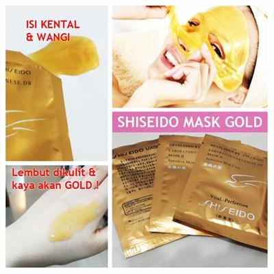 Masker SHISEIDO GOLD WHITENING 24K MASK / MASK GOLD CAIR LIQUID 24K