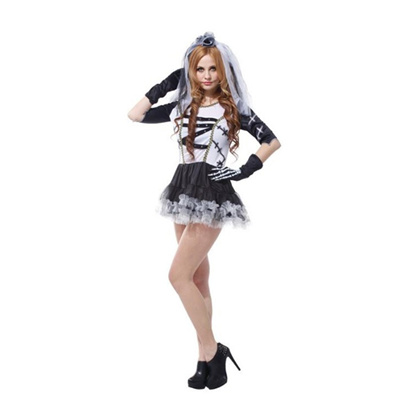 Masquerade Costume Adult female Halloween Death bride costume Role playing cosplay costume  sc 1 st  Qoo10 & Qoo10 - Masquerade Costume Adult female Halloween Death bride ...