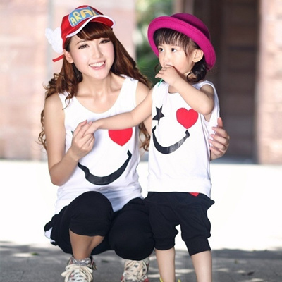 30783a6f1cfa Qoo10 - Matching Mother Daughter Clothes Sets Fashion Family Mom Girl 2pcs  Out...   Women s Clothing