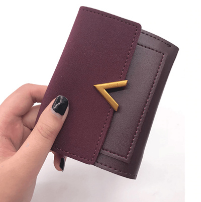 19e93bec67e Matte Leather Small Women Wallet Luxury Brand Famous Mini Womens Wallets  And Purses Short