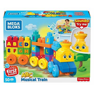 Mattel Mega Block First Builders ABC Musical Train Toy