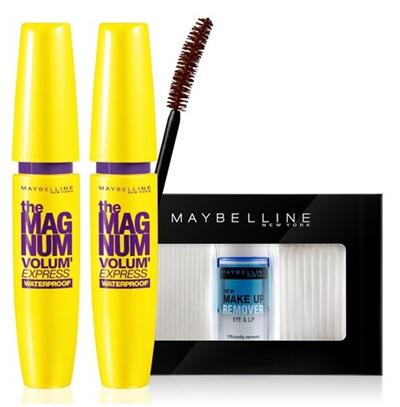 6029de42c19 [Maybelline] New York Volume Express Magnum Waterproof Mascara 9.2ml x 2p +  Cleansing