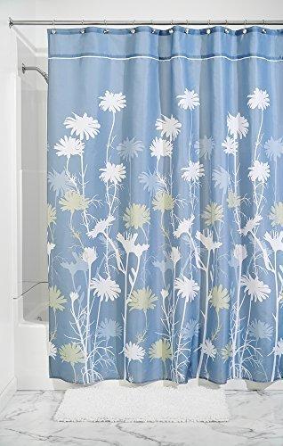MDesign Daisy Fabric Shower Curtain