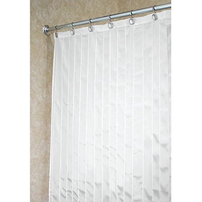 MDesign Pin Tuck Soft Fabric Shower Curtain