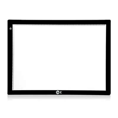ME456 A2 Size LED Light Box 17x24 Inch Light Pad 12VDC Power Light Table  for Tracing (Black)