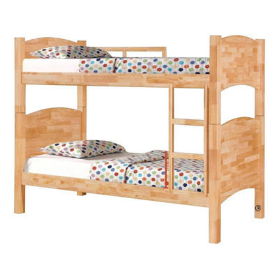Qoo10 - ALICE WOODEN DOUBLE DECKER BED FRAME : Furniture & Deco