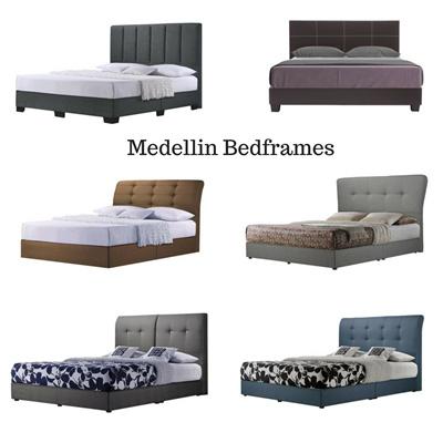 Qoo10 - Medellin® Designer Bedframes   4 sizes available [No ...