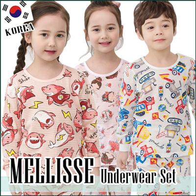 3b6dd5076 MELLISSE☆9 jacuquard Korean production Kids Sleeveless Underwear pajama  Set/Cotton sleepwear/pajamas