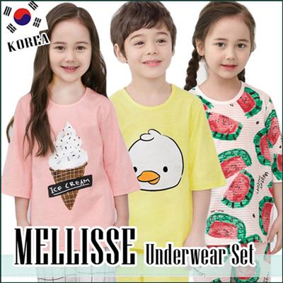 71c07d1df MELLISSE☆Korean production Kids Sleeveless Underwear pajama Set/Cotton  sleepwear/pajamas