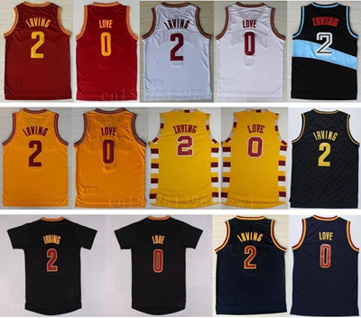 low priced d8b27 4cc86 Men' s 0 Kevin Love Jersey Throwback 2 Kyrie Irving Basketball Kerseys  Kevin Love Sports Shirt Uniform Yellow Red White Black