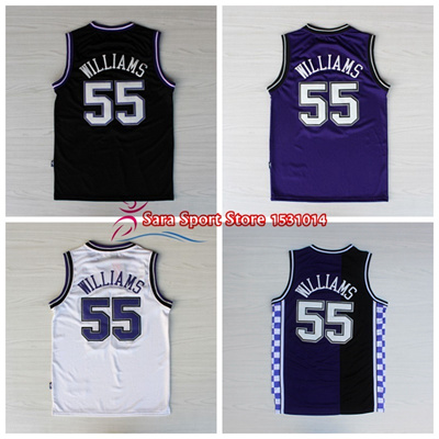 100% authentic a24a7 dbc4c Men' s White Chocolate Jason Williams Basketball Jerseys Throwback Purple  Black #55 Jason William
