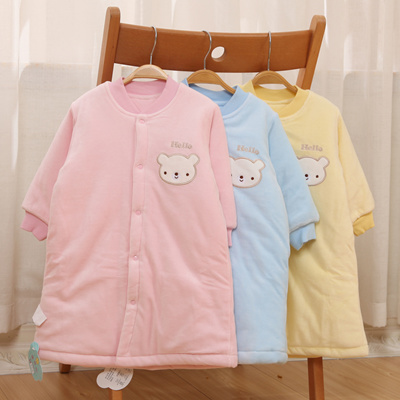 Qoo10 - Men and women Nightgown Pajamas baby winter padded baby quilted robe  w...   Kids Fashion 013f7c381e