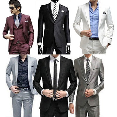 673456e0968 Men dress Suit( Blazer + Pants )Business Set Leisure Suit Wedding Mens  Brand Jacket