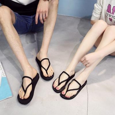 42db9e7a504 Qoo10 - Men Flat Flip Flops Rubber Strap Summer Slipper Sandals   Men s Bags    Shoes