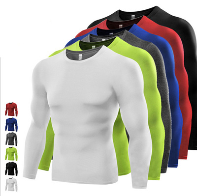 Men Compression Under Base Layer Tops Long Sleeve Quick Dry Sports Gym T-Shirts