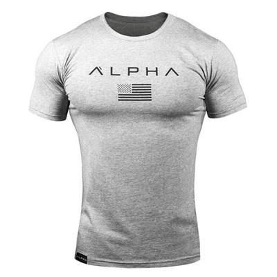 f2a05ec69d04 Qoo10 - Men High Elastic Gym Junky Alpha Quick Dry Running Training ...