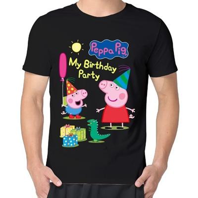 5bdc919e Qoo10 - Men Peppa Pig My Birthday Party Short Sleeve Vintage T-shirts : Women's  Clothing