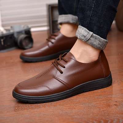 Men S Kfc Work Shoes Soft Bottom Non Slip Chinese Restaurant Casual Black Belt Shoes Father Shoes Ch