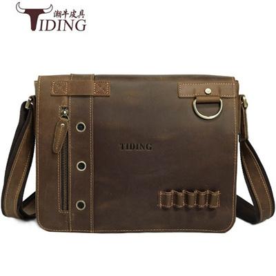 600a6105579f Qoo10 - Men s Shoulder Bags Laptop Women s Small Ipad Leather Bag Vintage  Mess...   Men s Clothing