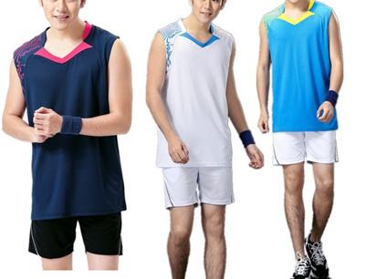 6eef519f281834 Qoo10 - Men sleeveless jersey shirt for badminton sports running naimai    Athletic   Outdoor Clothin.
