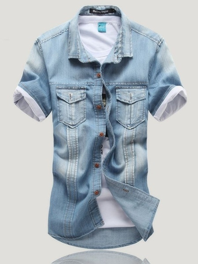 Can not Vintage mens two pocket denim shirt Exaggerate. Brilliant