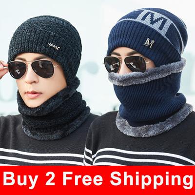 3efc4576fee Men winter caps Men Hat men scarfs  outdoor Knitted hats  Warm