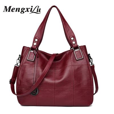 92b40ef0f4 Qoo10 - MENGXILU Patchwork Women Bags Soft Women PU Leather Handbags High  Qual...   Bag   Wallet