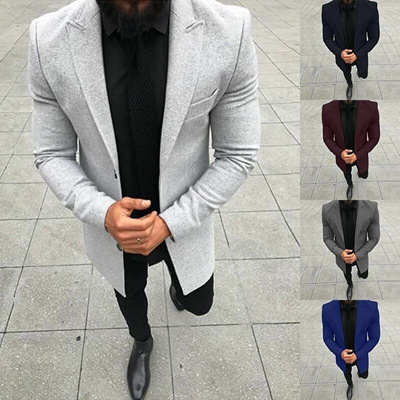 619dd33461 Qoo10 - Mens Fashion 2018 spring Autumn Button Suit Blazer Jacket Coat Long  Sl...   Women s Clothing