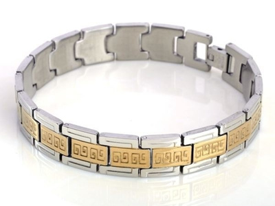 plated p bracelet gold silver yellow diamond men for