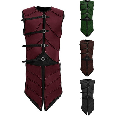 Fantasy Guar Arm Vest Up Tunic Tops Mens Shirt Laced Medieval Sleeveless Elf Warrior Clothing Pirate LSMqpjUzVG