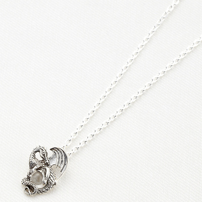 Qoo10 mens necklace silver 925 silver pendant dragon crystal mens necklace silver 925 silver pendant dragon crystal ball cool hard system silver access present christmas mozeypictures Gallery
