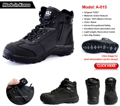 4f9f37e7aed Mens Safety Shoes / Safety boots / Safety Work boots / Steel Toe Cap Zipper  n Velcro / Made In Korea / Promotion