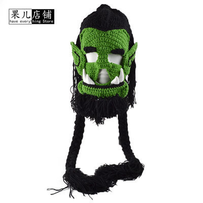 bfa631e3258 Qoo10 - Mens winter cap Set of head cap Man Funny wow keep warm hats fall  outs...   Fashion Accessor.