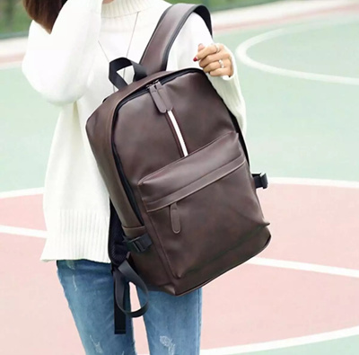 ec4f65f87e68 Qoo10 - Mens Womens Leather Backpack Laptop Satchel Travel School Rucksack  Bag   Men s Bags   Shoes