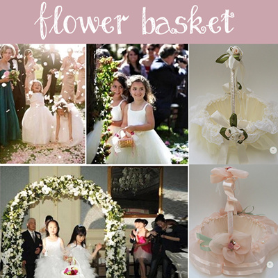 Merryknot Flower Basket Petals Wedding