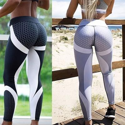 6ae4c5f9aa7d6a Qoo10 - Mesh Pattern Print Leggings Fitness Leggings for Women Sporting  Workou... : Restaurant & Caf.