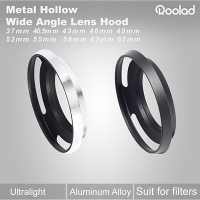 Metal Aluminum Hollow Lens Hood for Wide Angle focal length camera lens