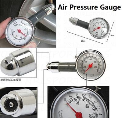 Metal Dial Tire Tyre Air Pressure Gauge Tester Car Truck Manometer  Motorcycle
